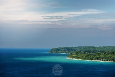 A tropical-island-like view of Lake Michigan