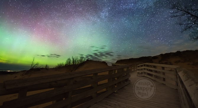 Northern Lights and Quiet Nights at the Sleeping Bear Dunes