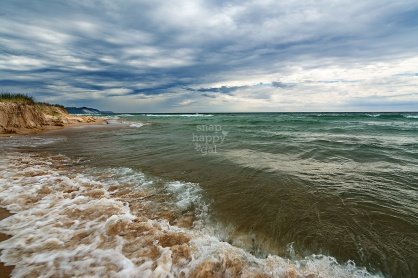 Photo: Lake Michigan Waves Crash Under Moody Skies