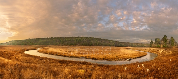 Photo: Horseshoe Bend, Boardman River, panorama