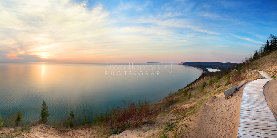 Photo: Sunset over Lake Michigan from the Empire Bluffs Overlook