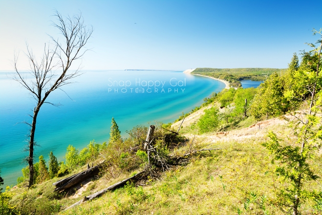 Photo: Lake Michigan from the Empire Bluffs in spring