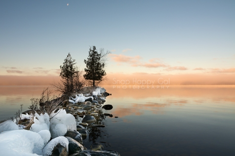 Photo: foggy reflections, Torch Lake