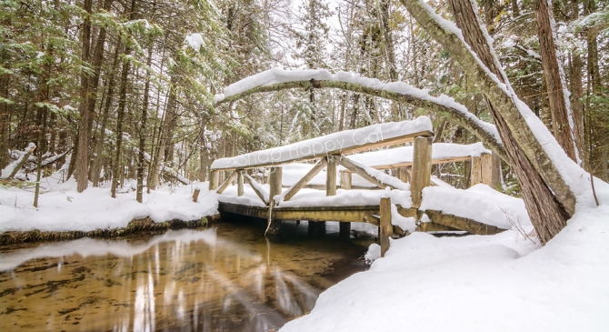 Snow-Hiking at the Grass River Natural Area