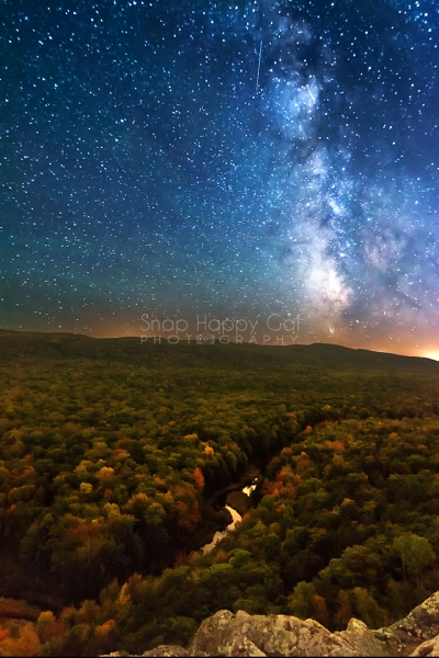 Photo: Milky Way over winding fall river, Lake of the Clouds, Michigan