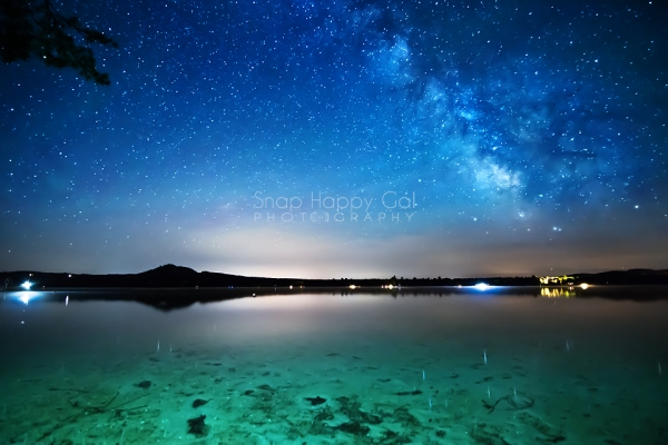 Photo: Little Traverse Lake under the stars of the Milky Way