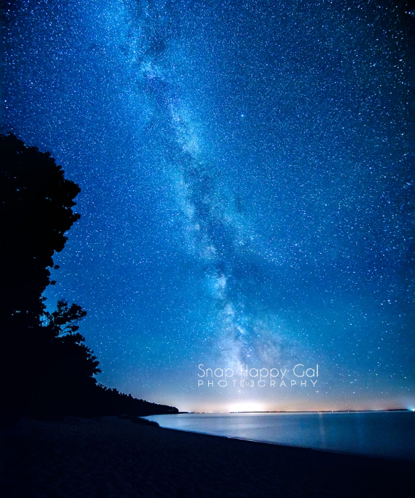 Photo: Milky Way and Traverse City, Michigan