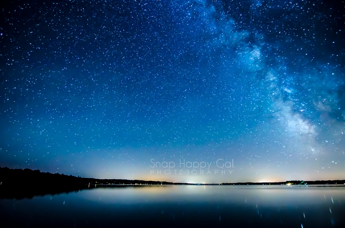 Photo: The core of the Milky Way rises over the north end of Torch Lake