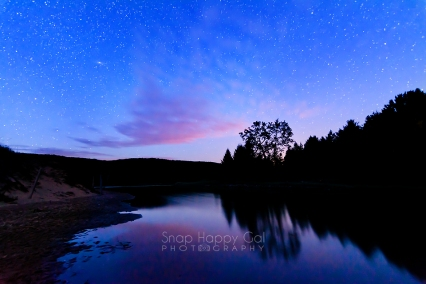 Photo: Reflections of twilight and stars