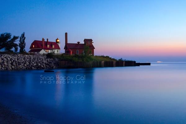 Photo: Point Betsie Lighthouse at twilight