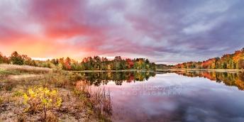 Photo: fall sunrise at Sabin Pond