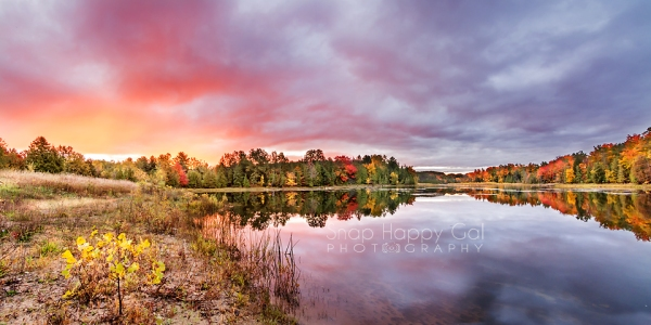 Photo: fall sunrise at Sabin Pond