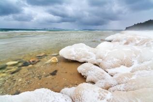 Photo: Lake Michigan anchor ice formations