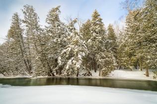 A classic Up North winter scene on Michigan's Boardman River (version 2)