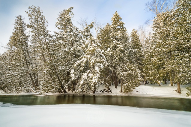 A classic Up North winter scene on Michigan's Boardman River (version 2)