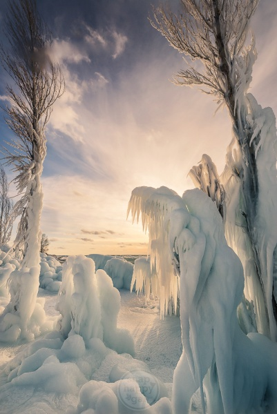Weeping Angels - an interesting ice formation found along Lake Michigan's shores at Point Betsie Lighthouse