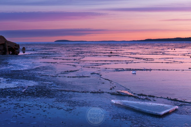 Shards of ice sit atop a fractured, frozen Lake Michigan in Traverse City