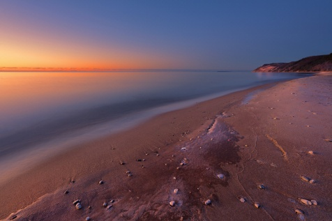 peace-placid-lake-michigan-beach-sunset-empire-bluffs-01191256