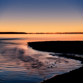 sunset-silhouette-abstract-blue-orange-lake-michigan-01191275